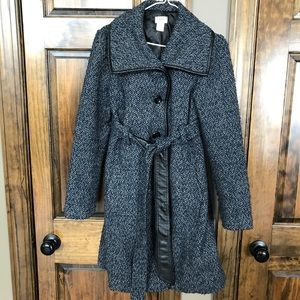 Motherhood maternity size small tweed wool coat